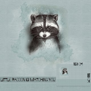 Bio-Summersweat Little Racoon Is Watching You - Panel/Rapport