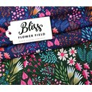 HHL BLISS Flower Field Bio-Jersey blau (No. 1)